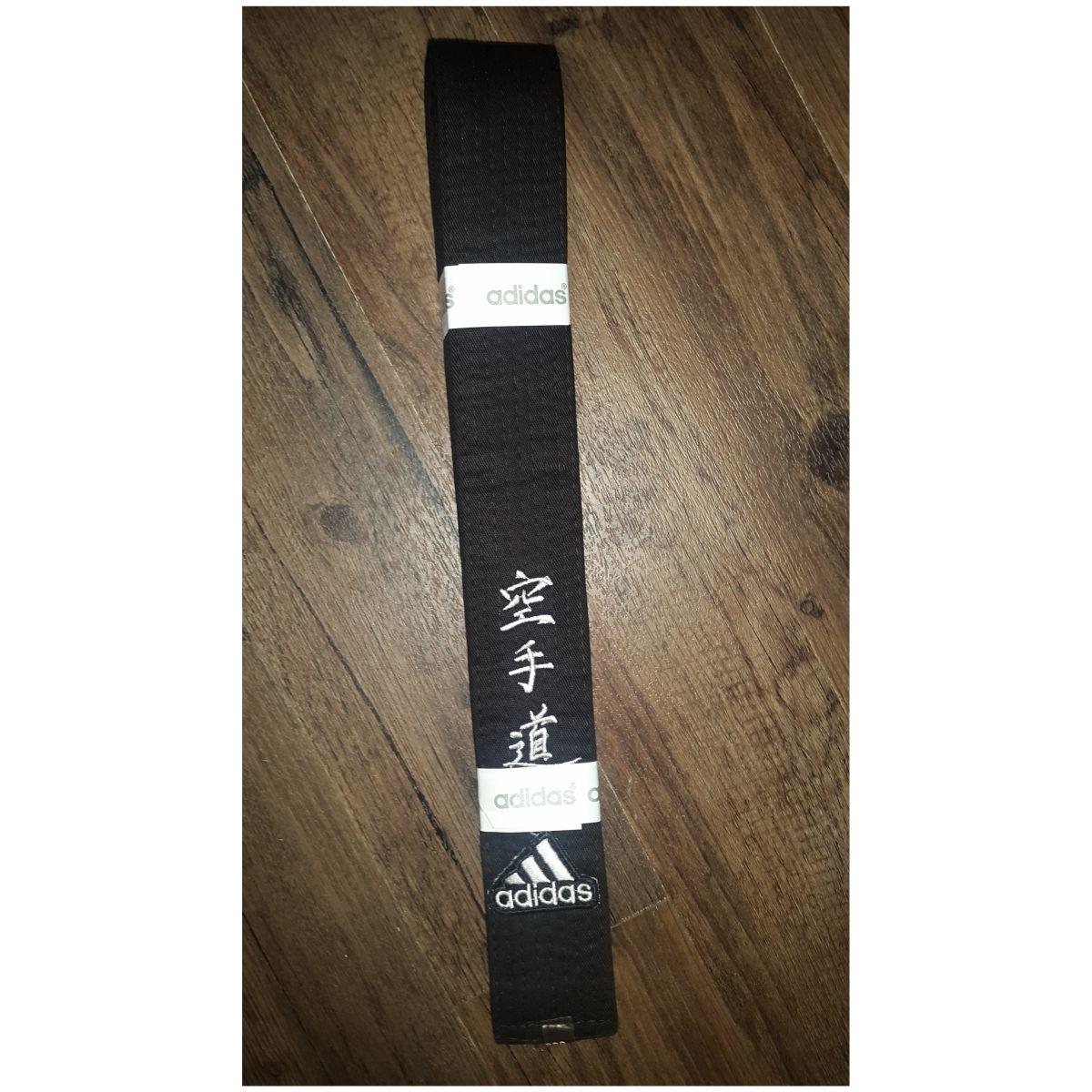 """Negligencia Comedia de enredo Agresivo  Cinturón negro con letras """"Karate"""" bordadas – olympicsports.shop"""